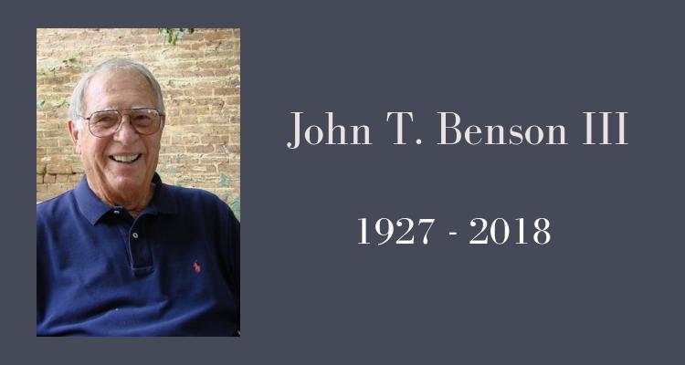 John T. Benson III