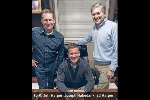 Joseph Habedank with Jeff and Ed Harper