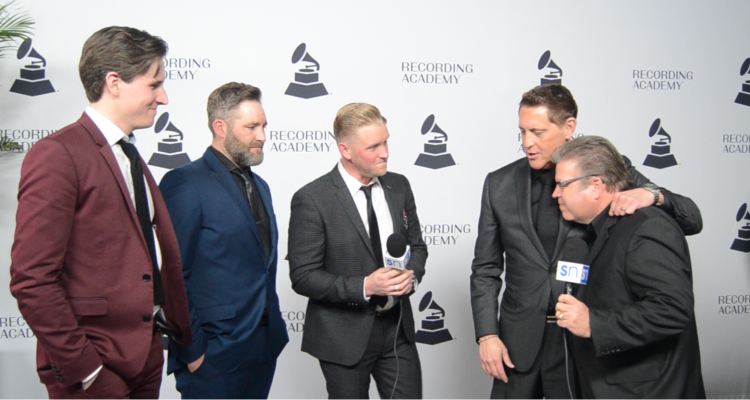Ernie Haase & Signature Sound with Rick Francis on red carpet at 2019 Nashville Grammy nominees party