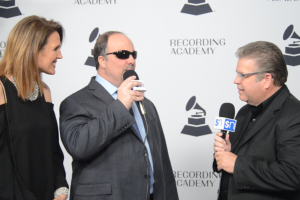 Gordon Mote with Rick Francis on red carpet at 2019 Grammy nominees party