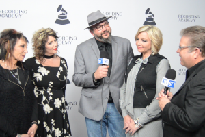 The Isaacs with Rick Francis at the Nashville Grammy nominees red carpet