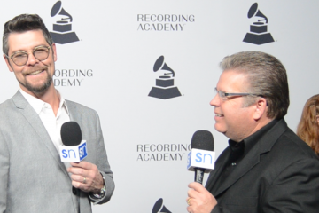 Jason Crabb with Rick Francis at Nashville Grammy nominees red carpet